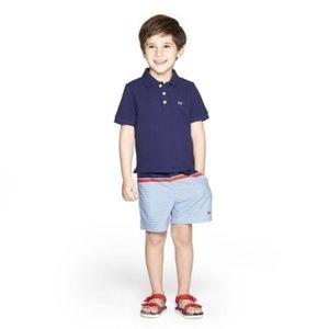 Toddler Boys' Short Sleeve Polo Shirt - Navy